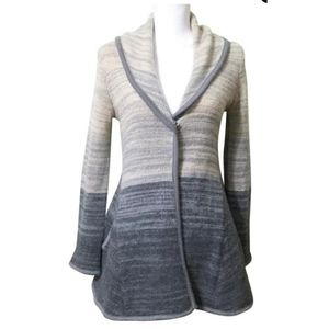 FP free people gray ombre oversize cardi sweater